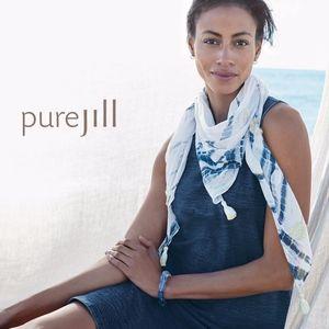 J. Jill Accessories - Pure Jill Jacquard Tie-Dye-Print Triangle Scarf